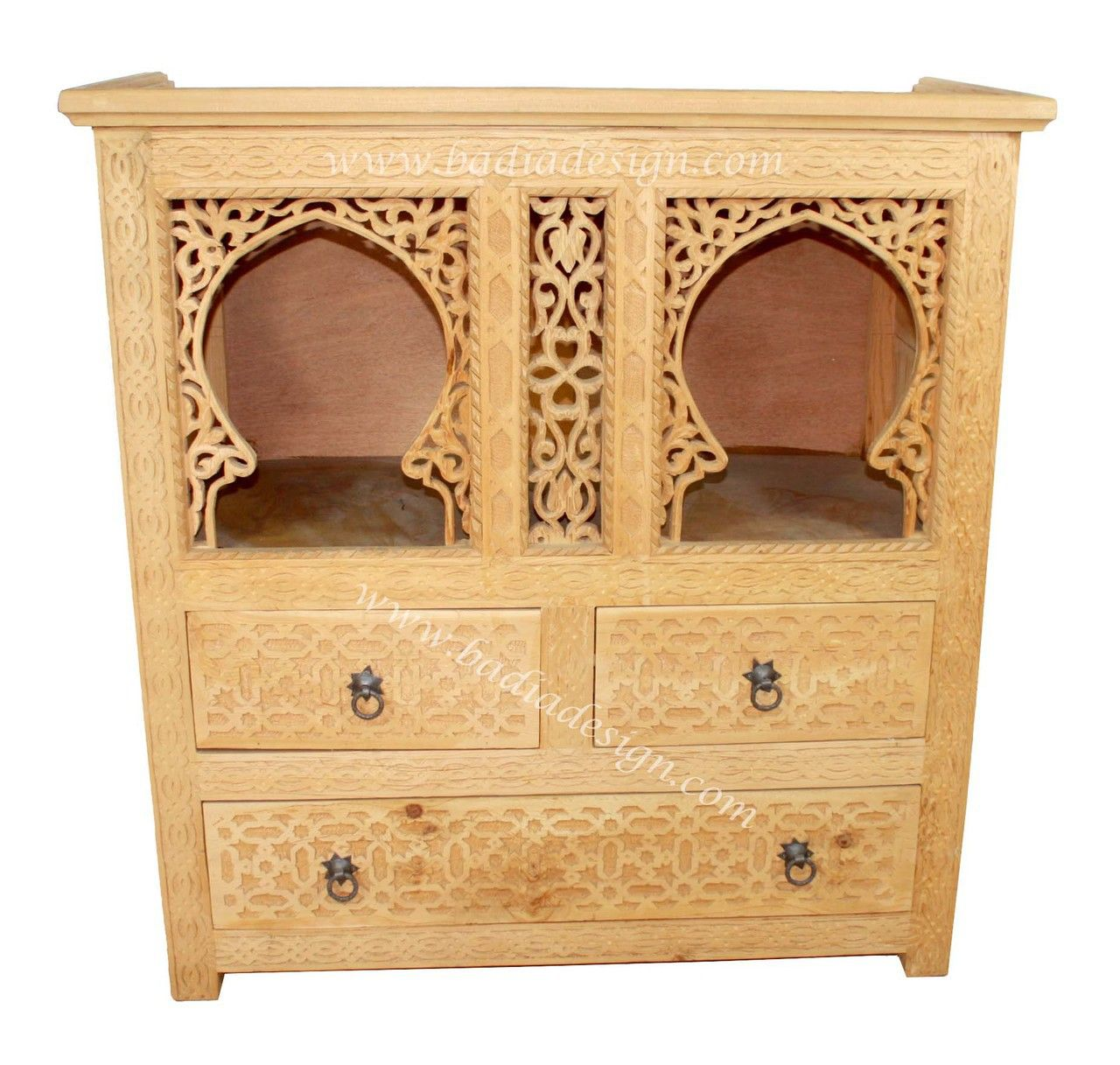 Moroccan Hand Carved Wooden Cabinet   CW CA016, (http://www