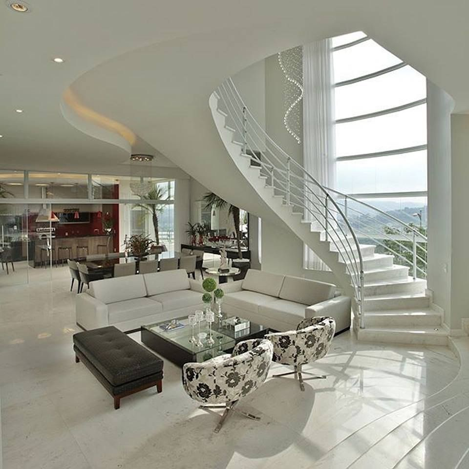 two story house interior design with great stair | Home ...