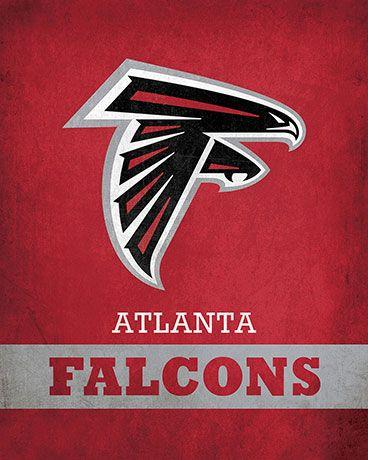 Nfl Atlanta Falcons Logo 24 99 Parade Your Pride For The Atlanta Falcons With This 16x20 Printed Atlanta Falcons Crafts Atlanta Falcons Logo Atlanta Falcons