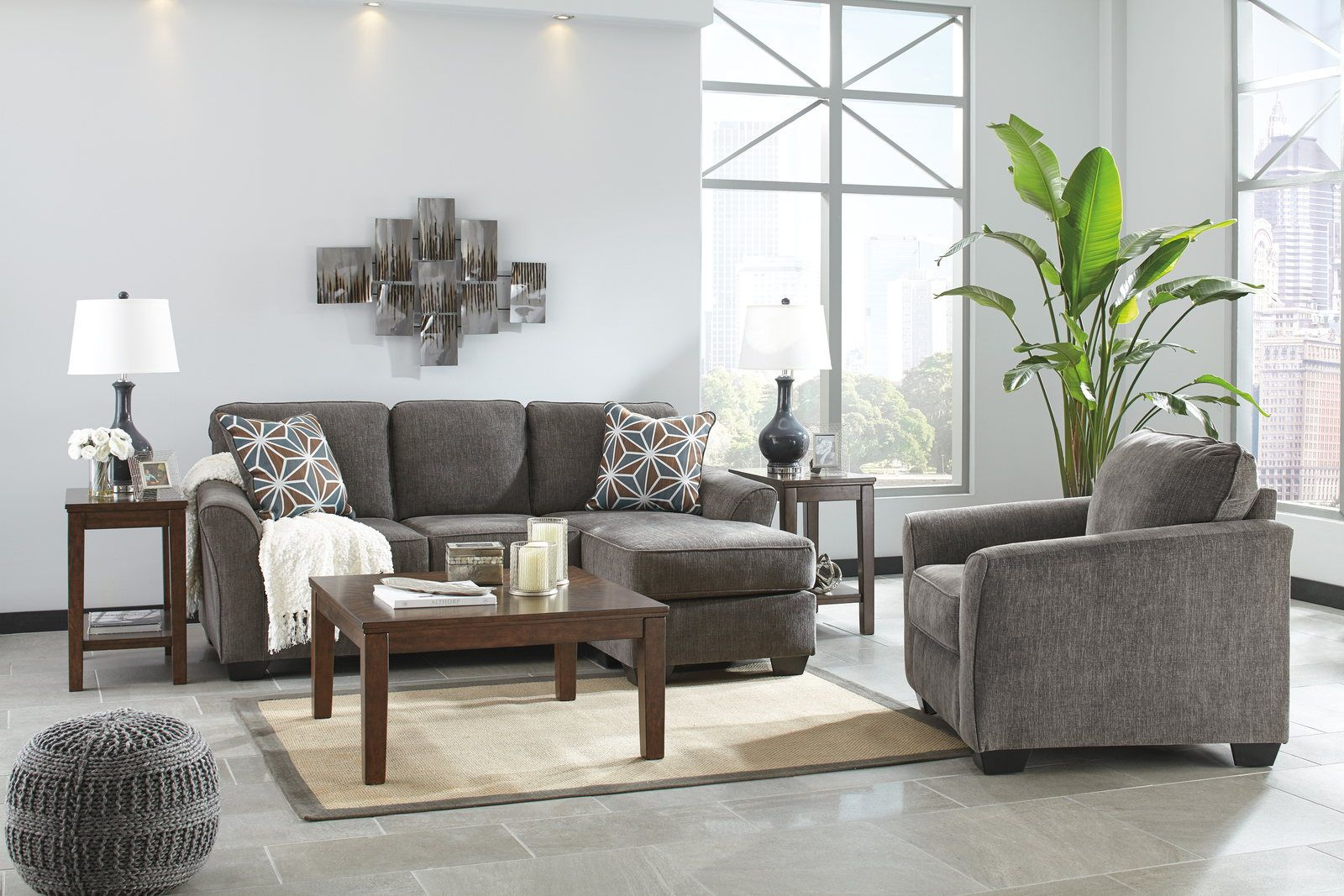 Brise 2-Piece Living Room Set in Slate | Small living room ... on Outdoor Living Room Set id=89709