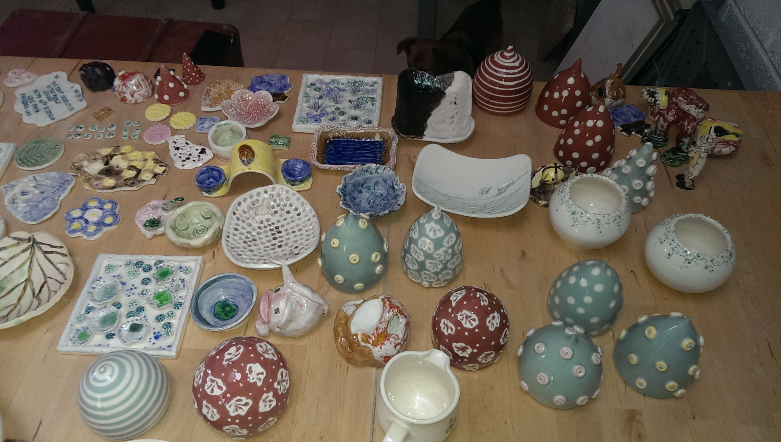 some nice work in the latest glaze firing!