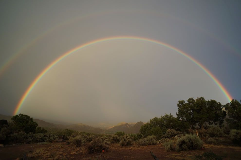 Double rainbow over Embudo Valley