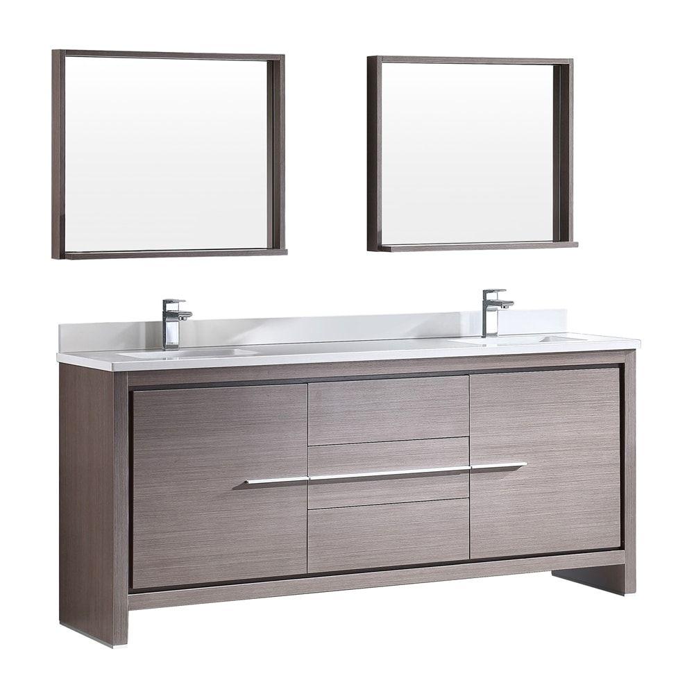 Shop Fresca Fvn8172 Allier 72 In Modern Double Sink Bathroom
