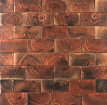 End grain flooring we have 9 5 square wood tiles which for Square hardwood flooring