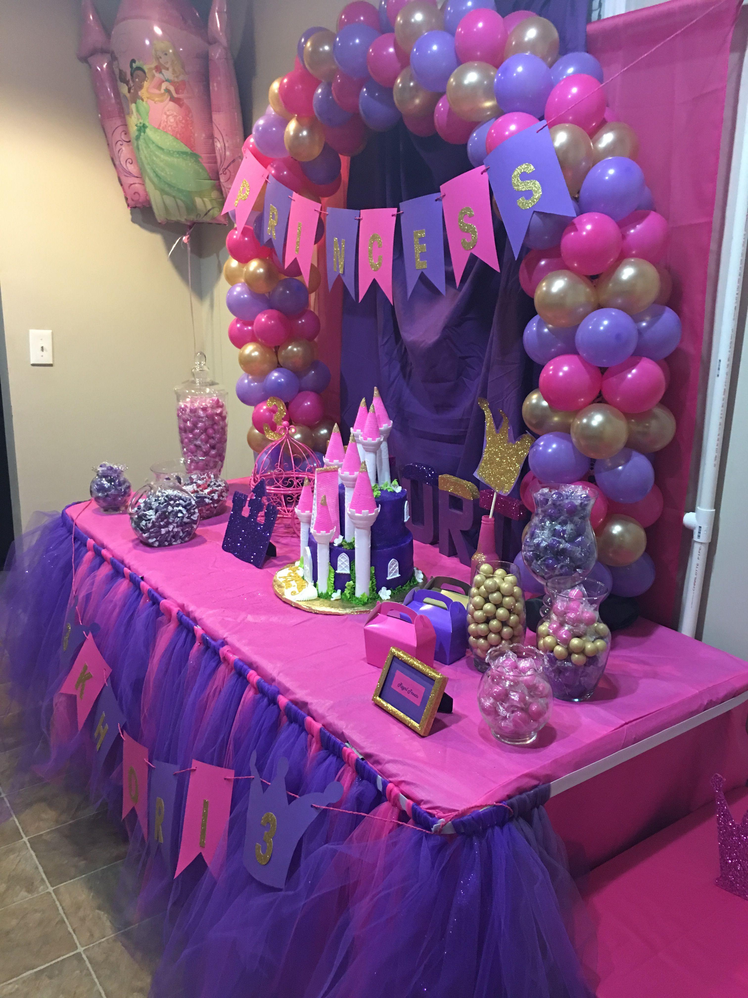 princess party. birthday party. 3rd birthday. at home. diy