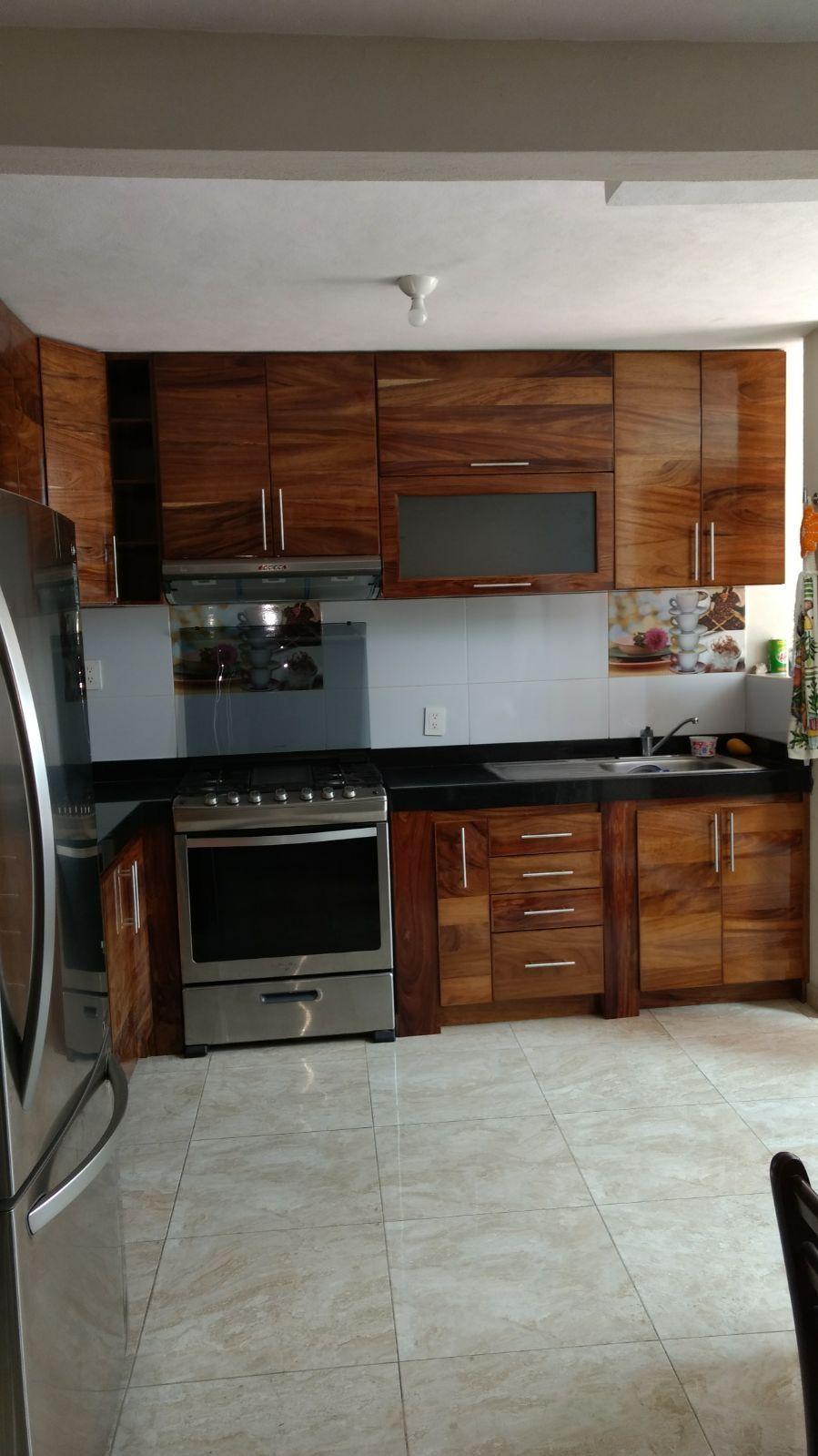 Cocina en madera de parota en 2020 | Cocinas integrales ...