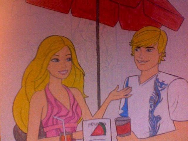 Coloring picture of barbie and ken dating