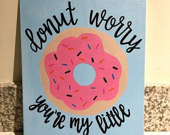 Canvas Board- Big Little Sorority Canvas/ sorority canvas/ dorm canvas/ donut/ big little canvas/ painted canvas/ hand painted #biglittlecanvas