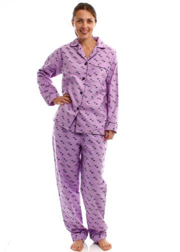 de0c99058c Noble Mount Womens Premium 100% Cotton Flannel Pajama Sleepwear Set - Cute  Designs  29.99  topseller