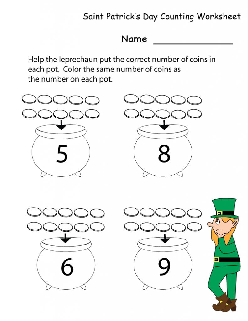 St Patricks Day Worksheets Best Coloring Pages For Kids Holiday Worksheets St Patricks Day Holidays Kindergarten [ 1024 x 791 Pixel ]