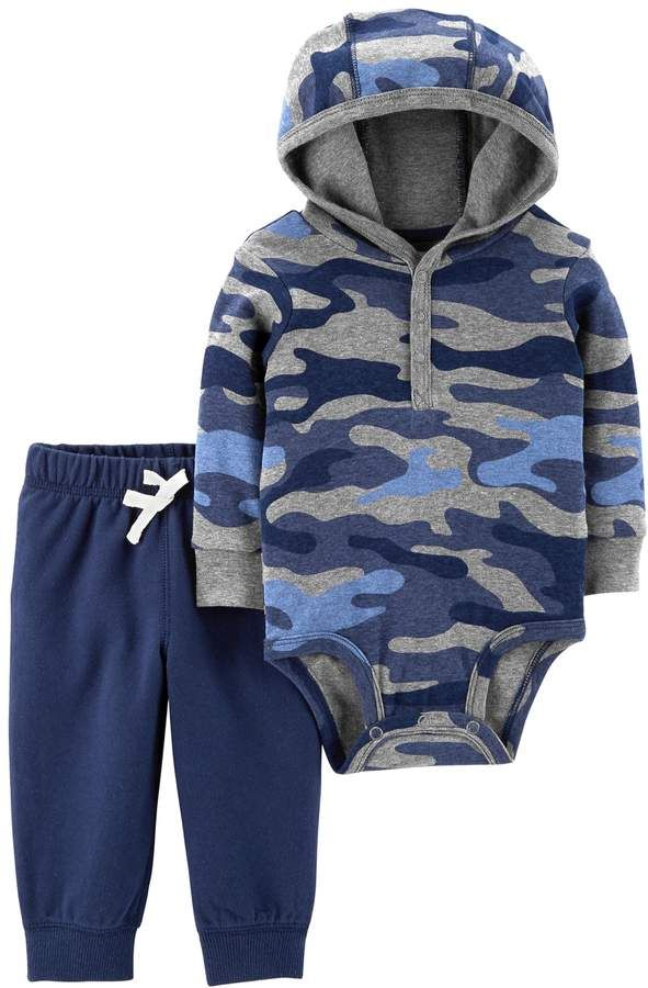 9b5194556 $10* Carters Baby Girl Carter's Camouflage Hooded Bodysuit & Pants Set from  Kohl's-- Sizes Available: Newborn, 3 Months, 6 Months, 9 Months, 12 Months,  ...