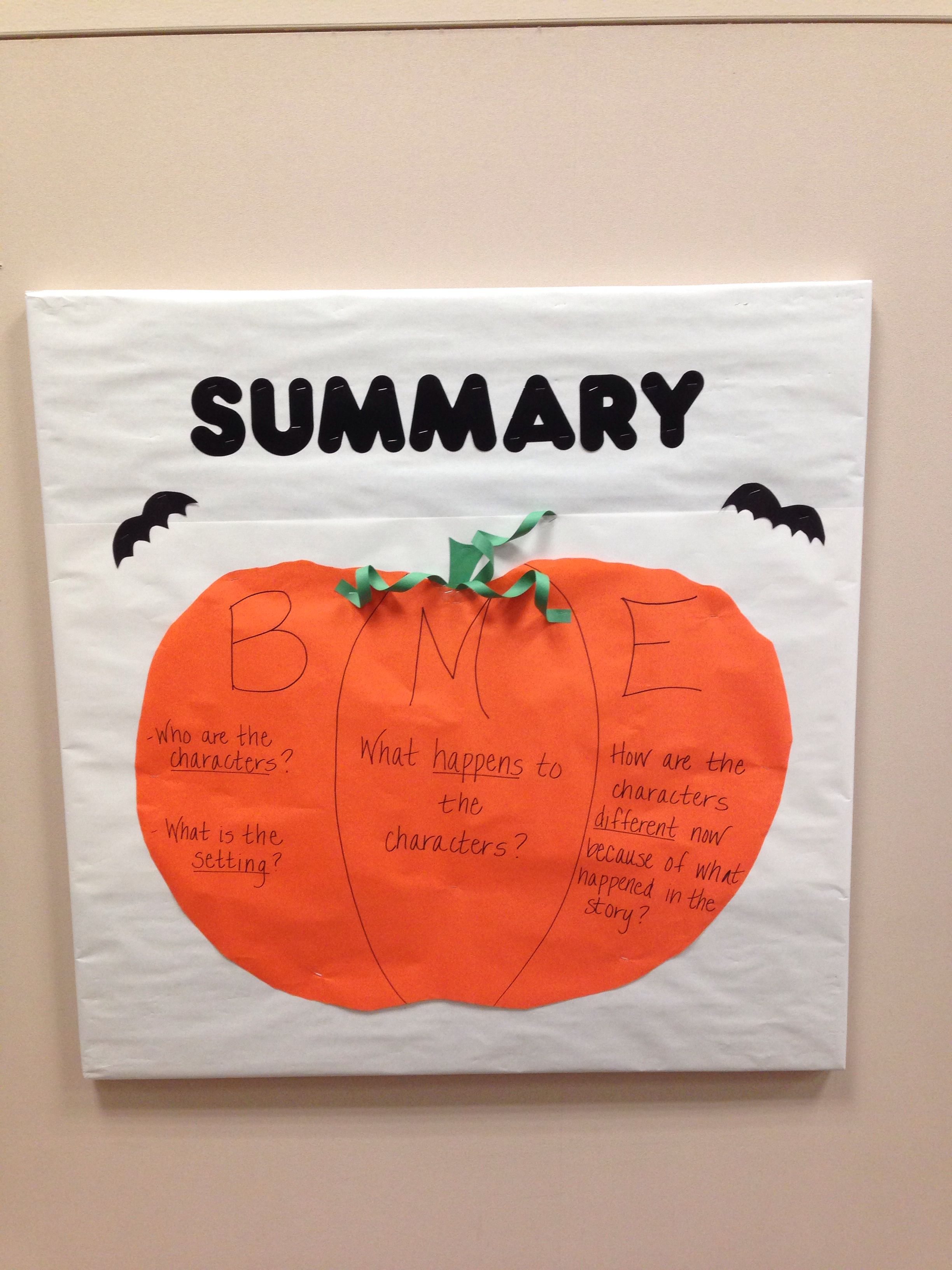 Pumpkin Bme Summary Bulletin Board For October