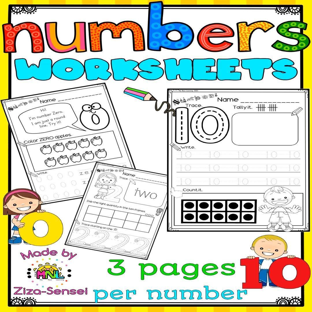 Number Worksheets Pre K Kindergarten 0 10 Pack Video Video In 2020 Math Activities Preschool Pre Writing Preschool Activities [ 1080 x 1080 Pixel ]