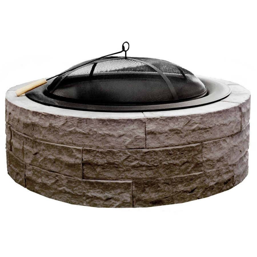 Four Seasons Outdoor Product 42 In W Tan Stone Wood Burning Fire