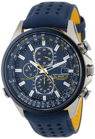 053364b7cf6 Citizen Eco-Drive Radio-Controlled Chronograph World Timer  Blue Angels  edition…
