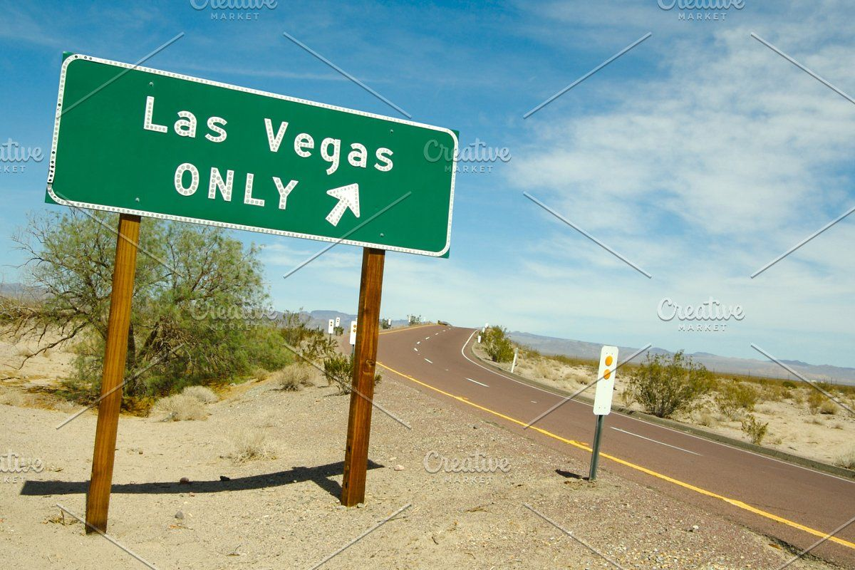 Las Vegas Road Sign In 2020 Las Vegas Roads Social Media Design