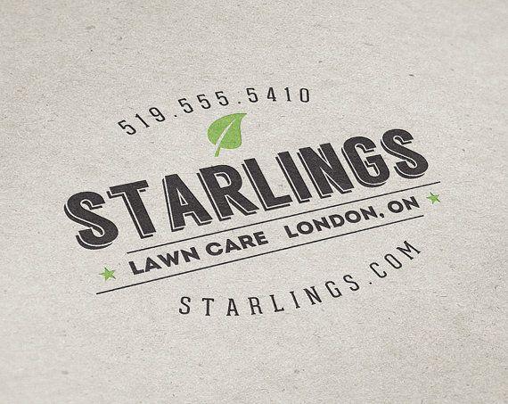 Premade logo design lawn care logo landscaping logo premade business cards premade logo design lawn care logo landscaping logo premade custom logo reheart Choice Image