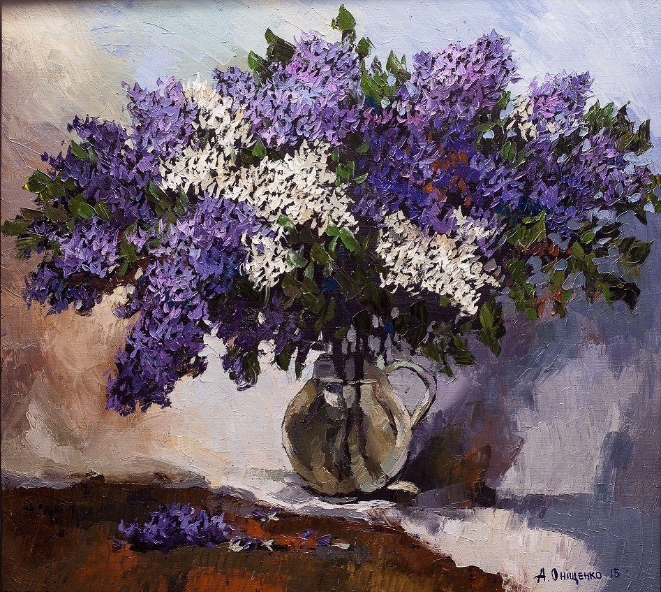 """Spring Lilacs II"", 2015; A. Onishenko; Original Fine Art"
