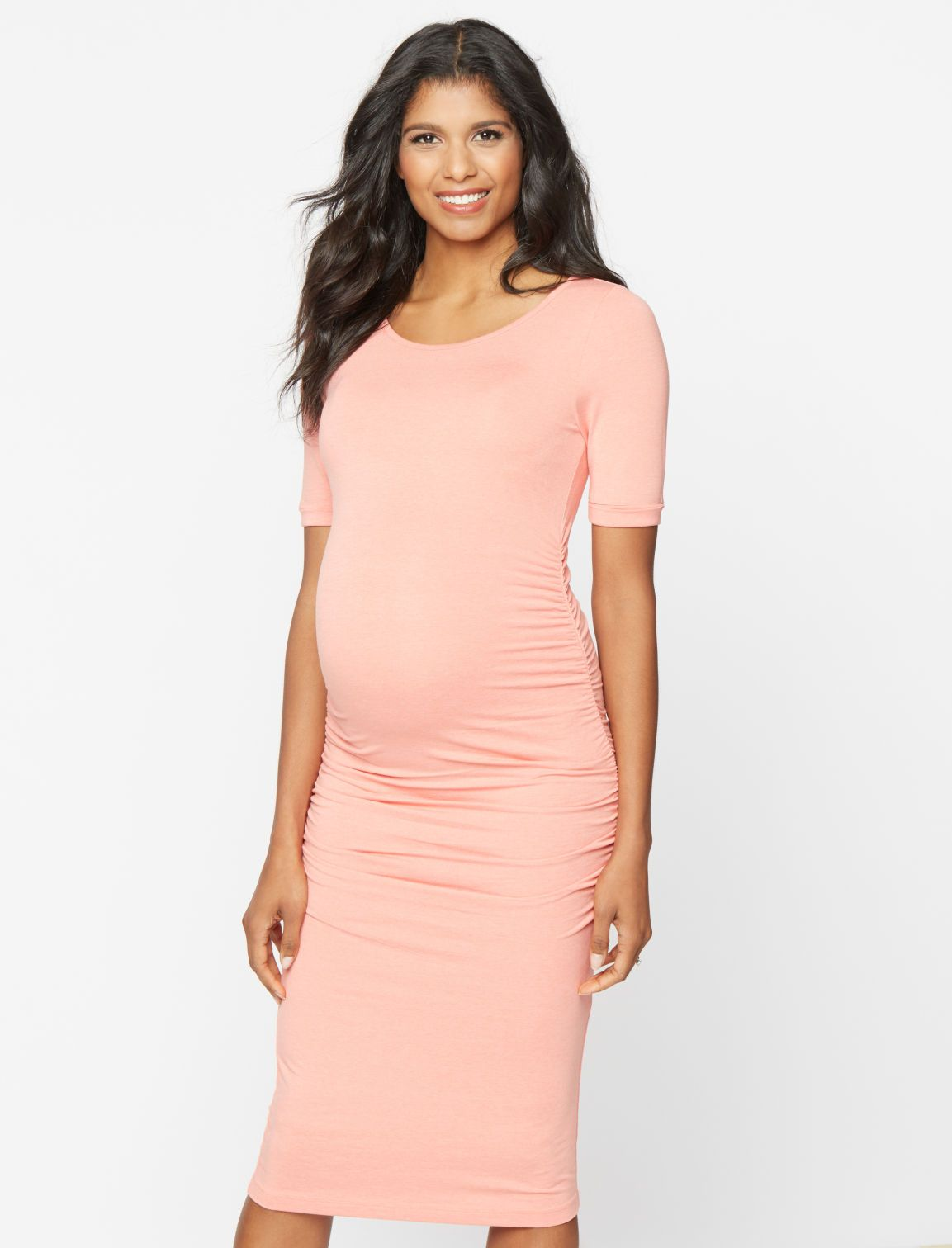 b7baac65ffc61 A Pea in the Pod Isabella Oliver Ruched T Shirt Maternity Dress ...