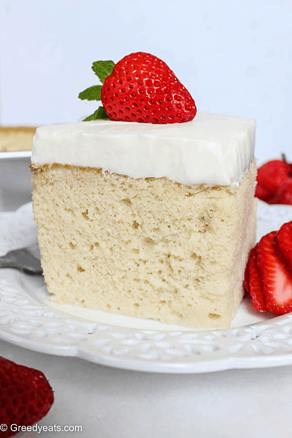 Traditional Tres Leches cake with a twist- so rich and moist!