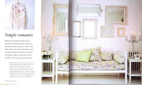 """Sitting room of Chic shack Owners/Founders,at their London Home,Featured on the Book"""" Romantique Style""""."""