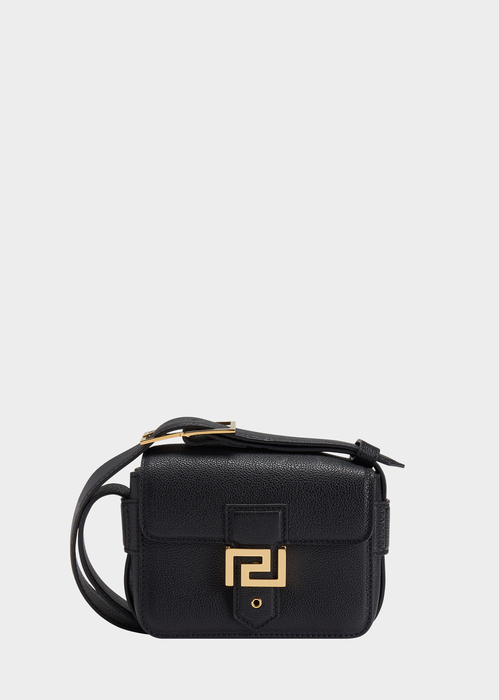 120be5d27a1e VERSACE Greek Key Leather Cross-Body Bag.  versace  bags  shoulder bags   leather  lining  cashmere  wool