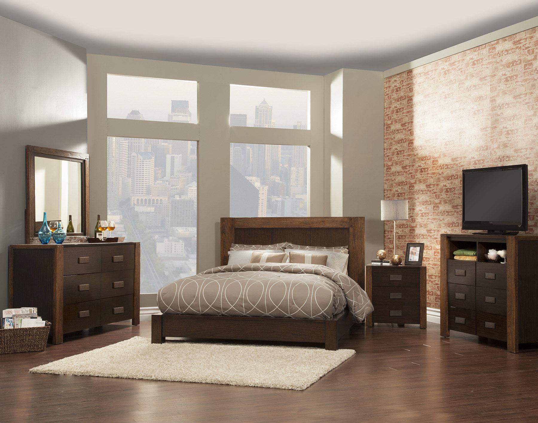 Element queen platform bed alpine furniture home gallery