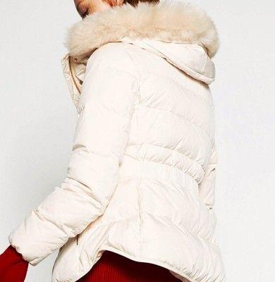 biała kurtka puchowa zara