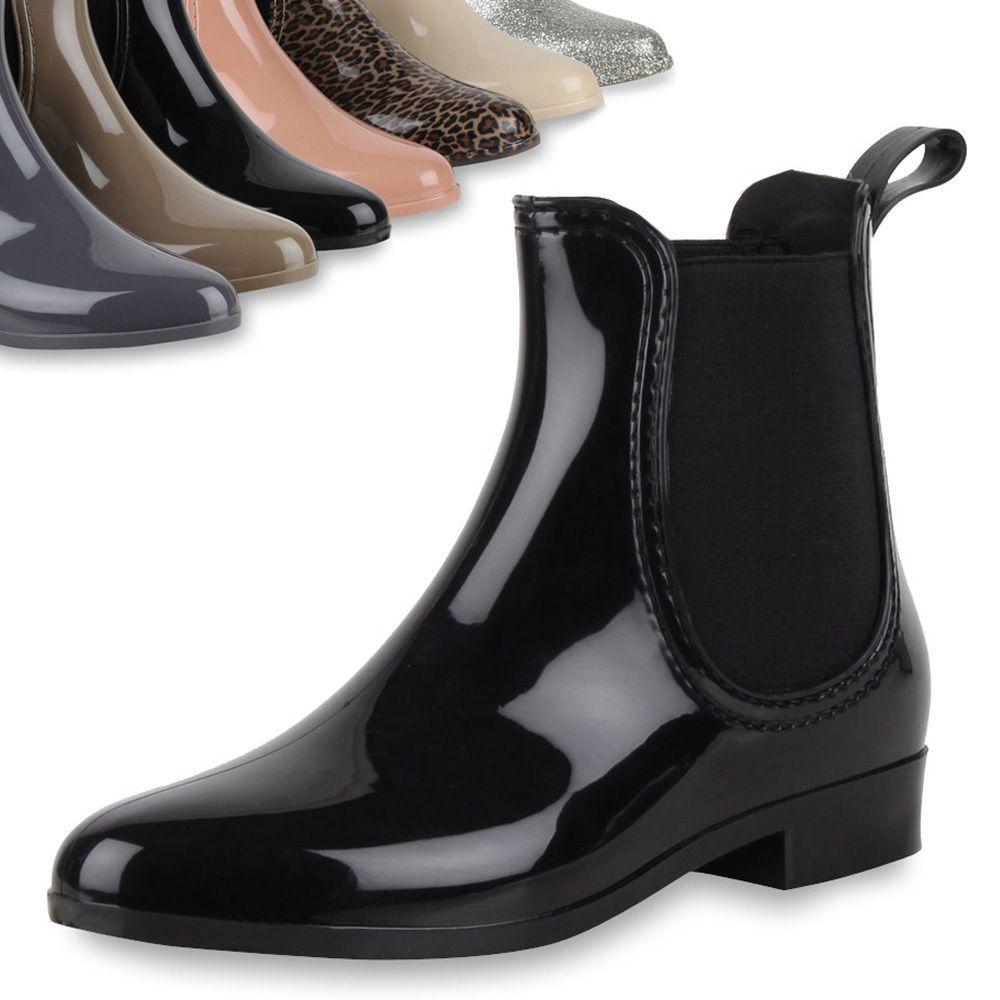 Damen Lack Stiefeletten Gummistiefel 70510 Stylisch Chelsea botas zapatos  Stylisch 70510 Hot cfc471