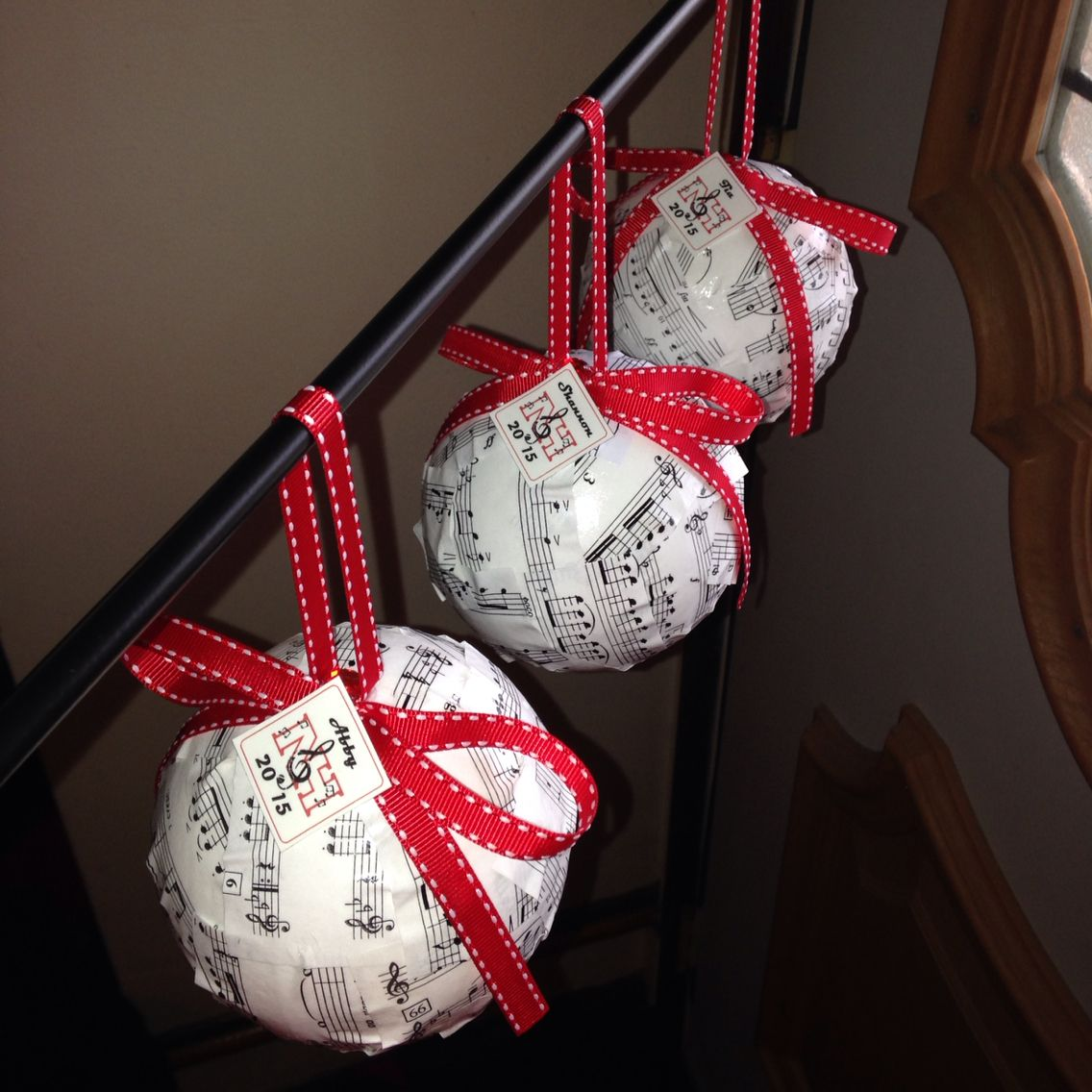 Delightful Marching Band Christmas Ornaments Part - 14: Pinterest Inspired, Musical Holiday Ornaments As Gifts For Marching Band  Senior Night!