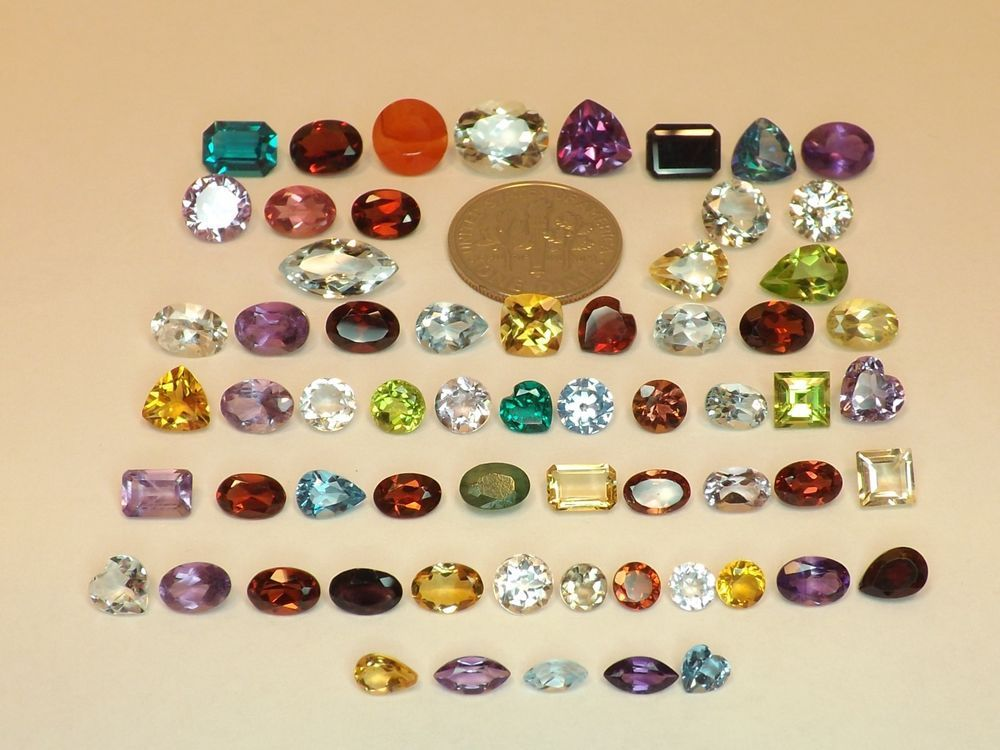 Sale 50.25tcw Mixed Lot Gemstones from scrap gold silver & vintage jewelry