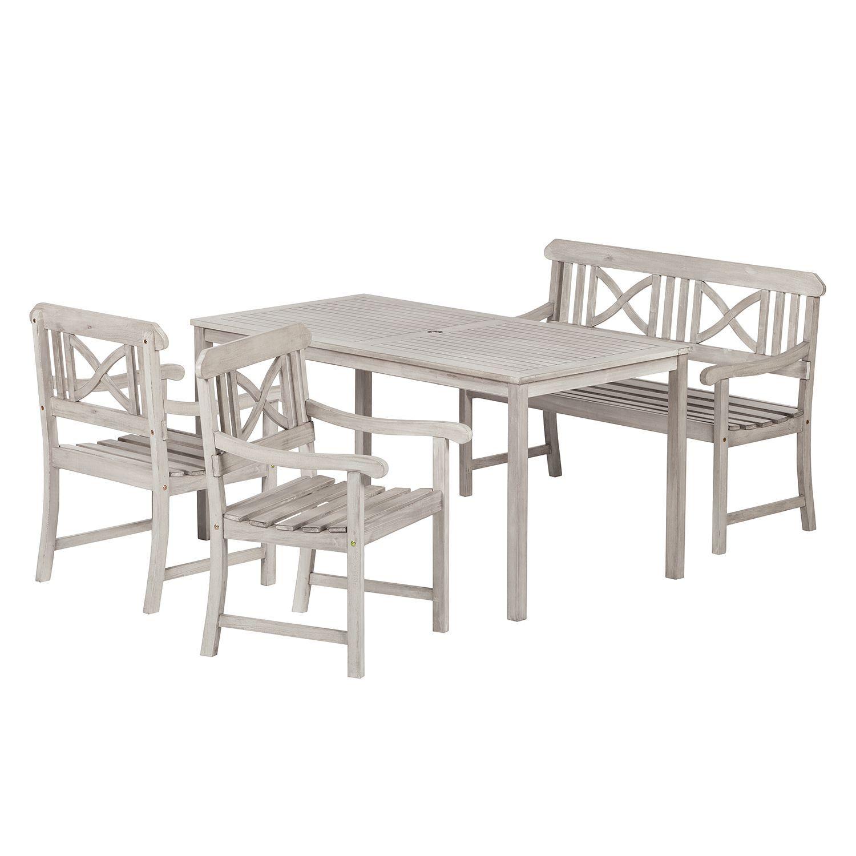 Esstisch Eiche Sägerau Trüffel Runde Weiß Tische Massiv