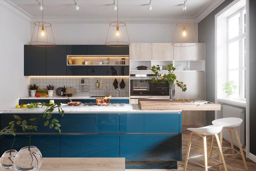 Cucina Blu: 25 Idee di Arredo in Stile Moderno e Classico