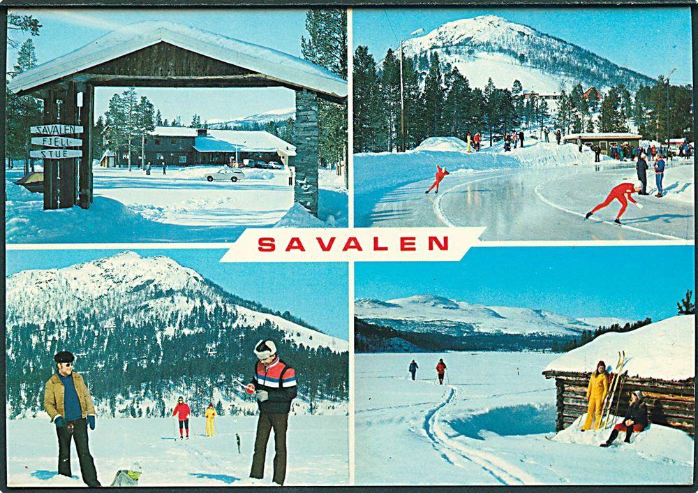 Hedmark fylke, Østerdalen i Norge. Savalen Fjellstue for sport og ferie. Utg Ola Nyeggen 1970-tallet
