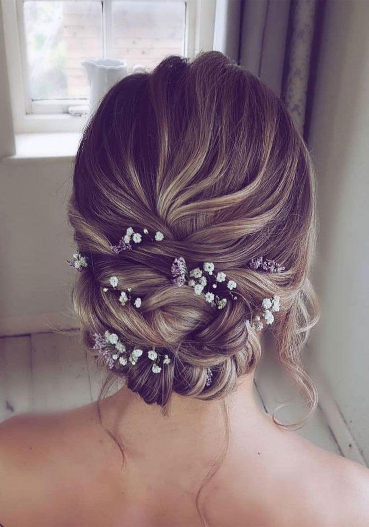 Elegante Prom Updo Hochzeitsfrisuren für mittellanges Haar #elegante #hochzeits…