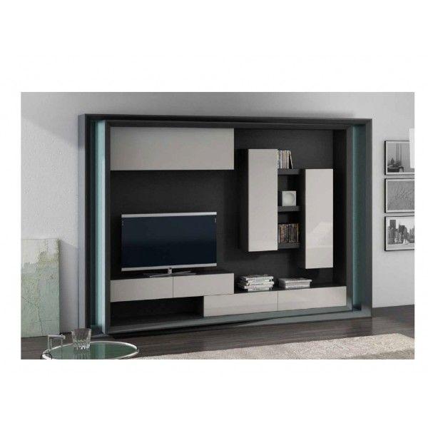 Mueble para tv 600 600 cecy pinterest - Mueble tv pared ...