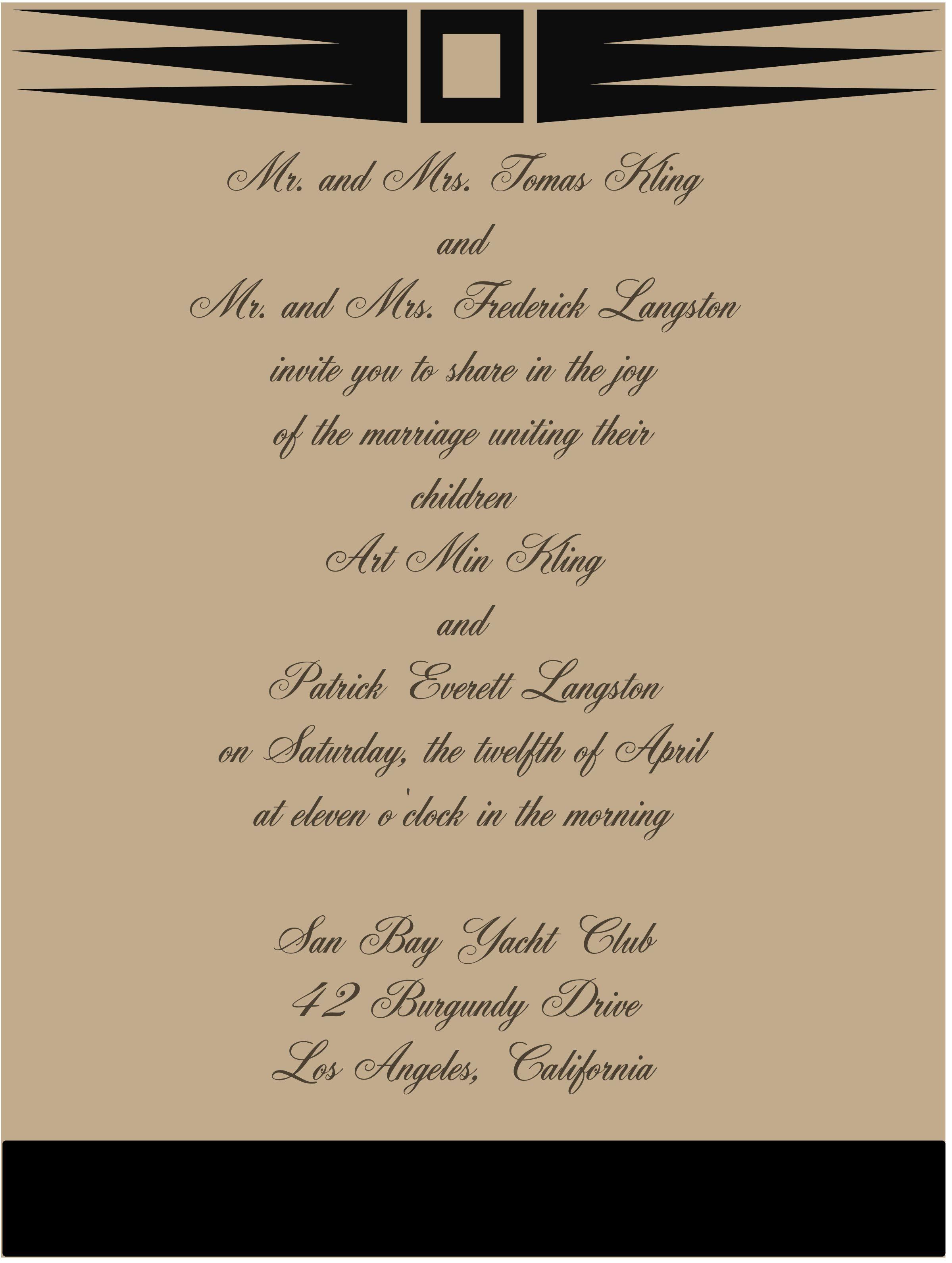 Social Or Wedding Invitations Pinterest