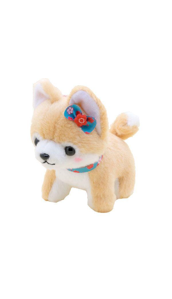 Amuse Mameshiba Shiba Inu Toume Latte Plush Cute Stuffed Animals
