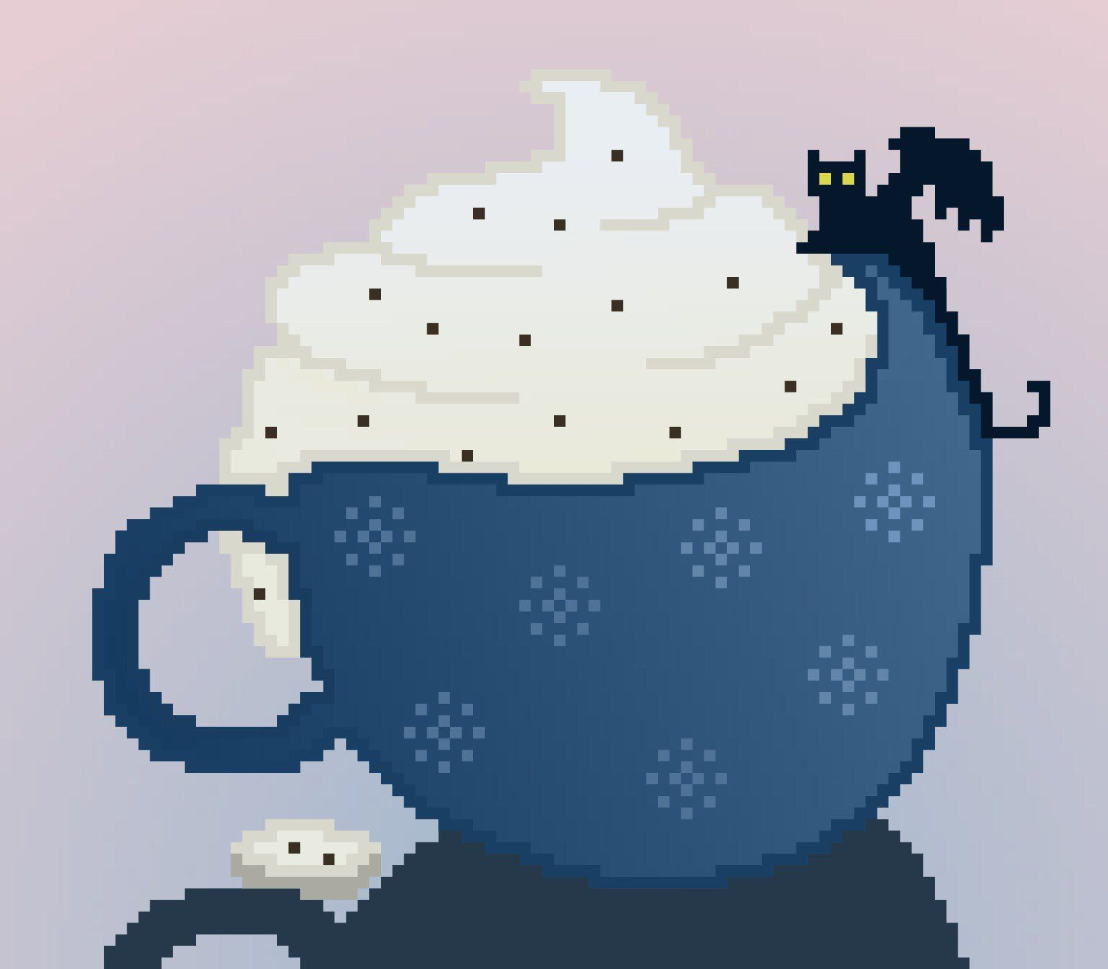 Pixel Cup With A Load Of Cream For The Little Toothless  #howtotrainyourdragon