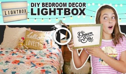 How To Make DIY Light Box    Room Decor Ideas For Teens images
