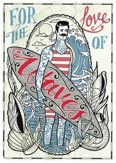 Vintage Surf Graphics