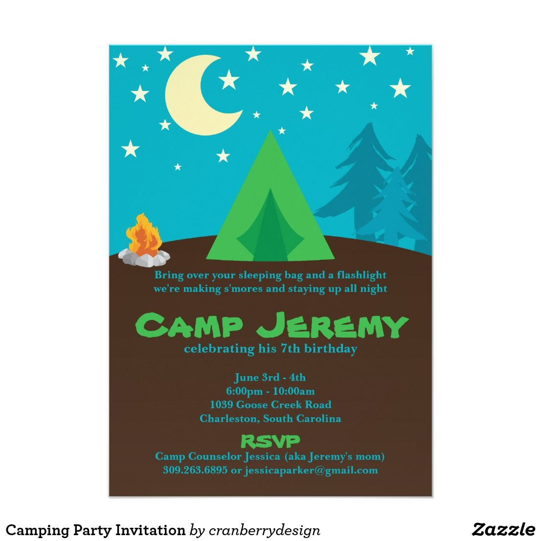 Camping Party Invitation   Camping party invitations and Party ...
