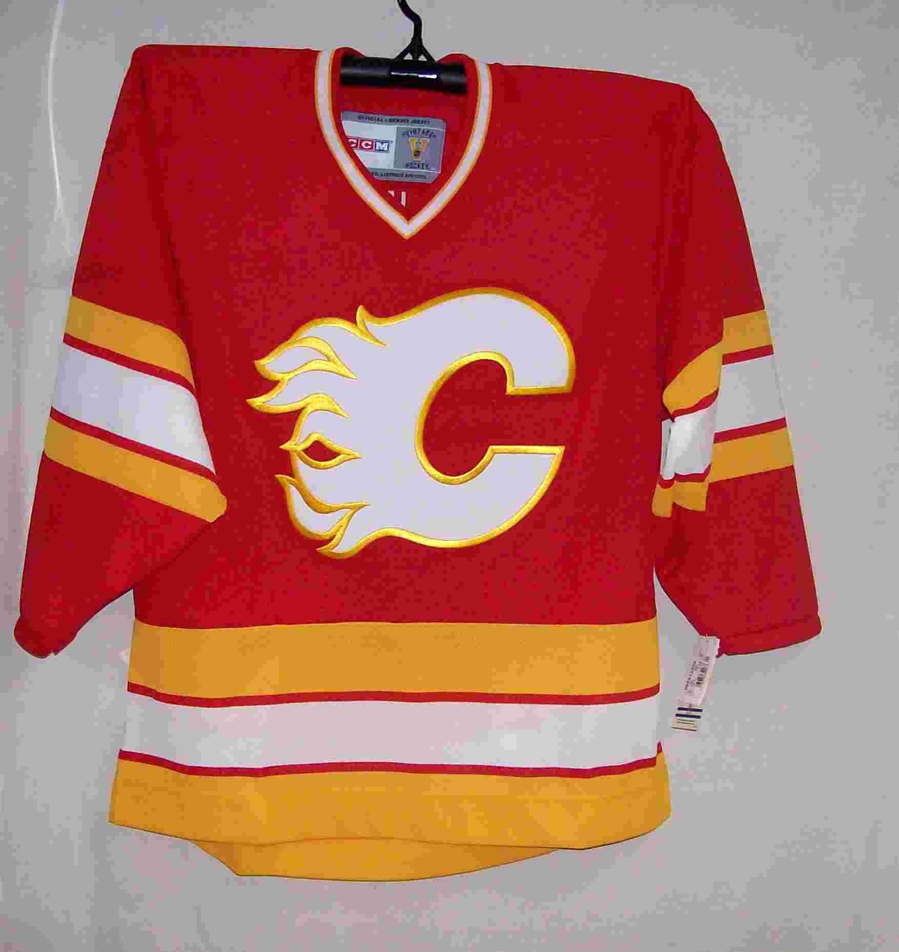 calgary flames ccm jersey