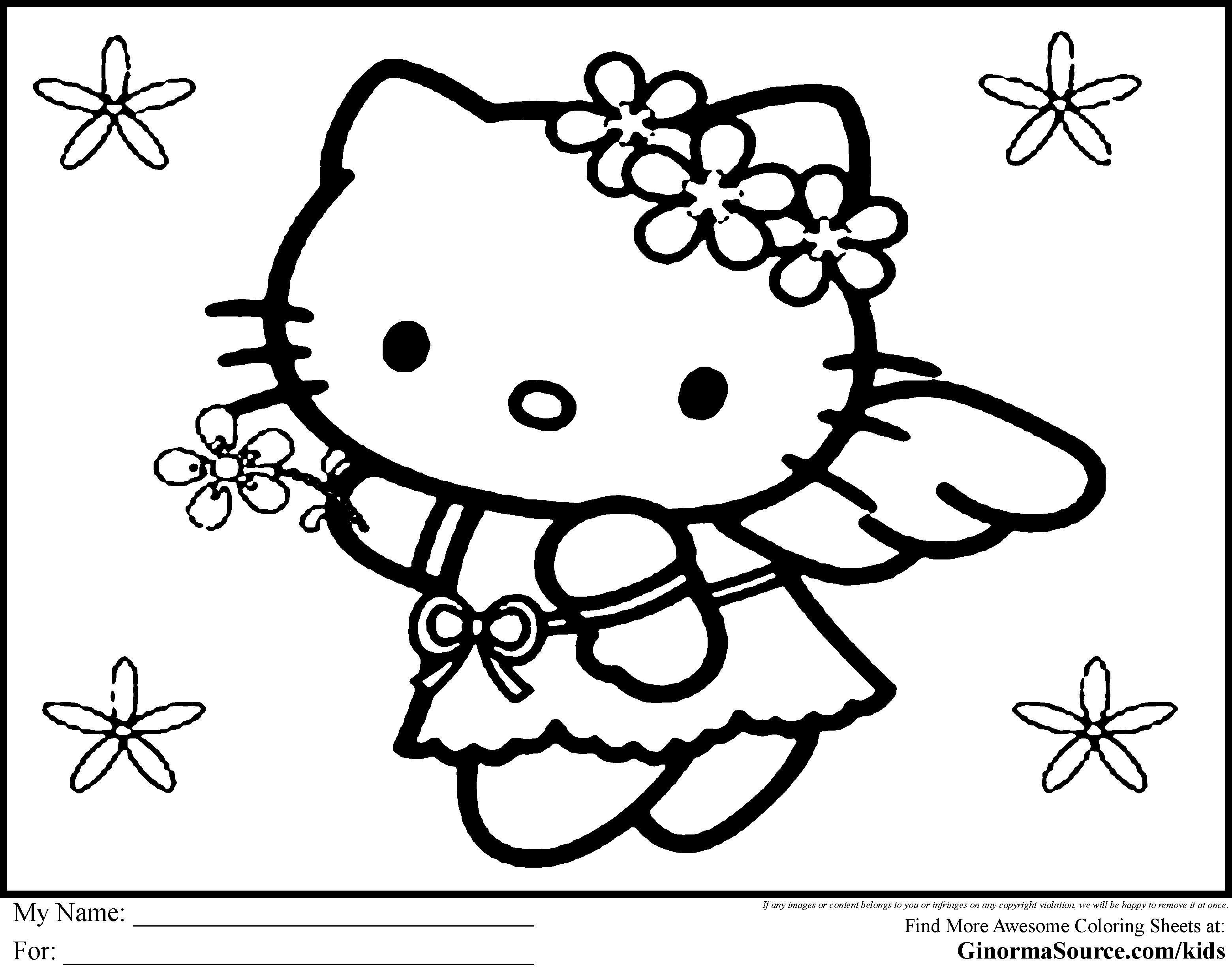 Ausmalbilder Hello Kitty Meerjungfrau - Coloring and Drawing