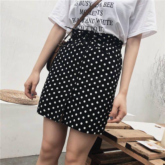 a9e404a1cb2 Skirt summer female 2018 new fat mm high waist a word skirt anti-light wave