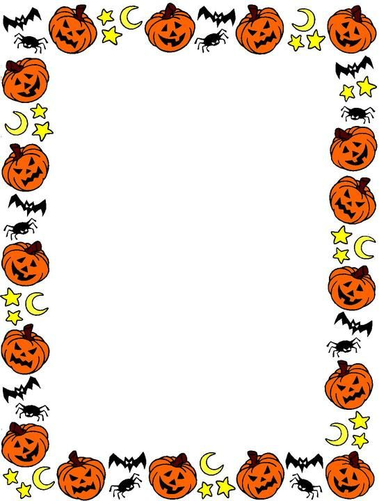 halloween clip art borders halloween border clip art halloween rh pinterest com printable halloween clipart borders halloween border clipart black and white