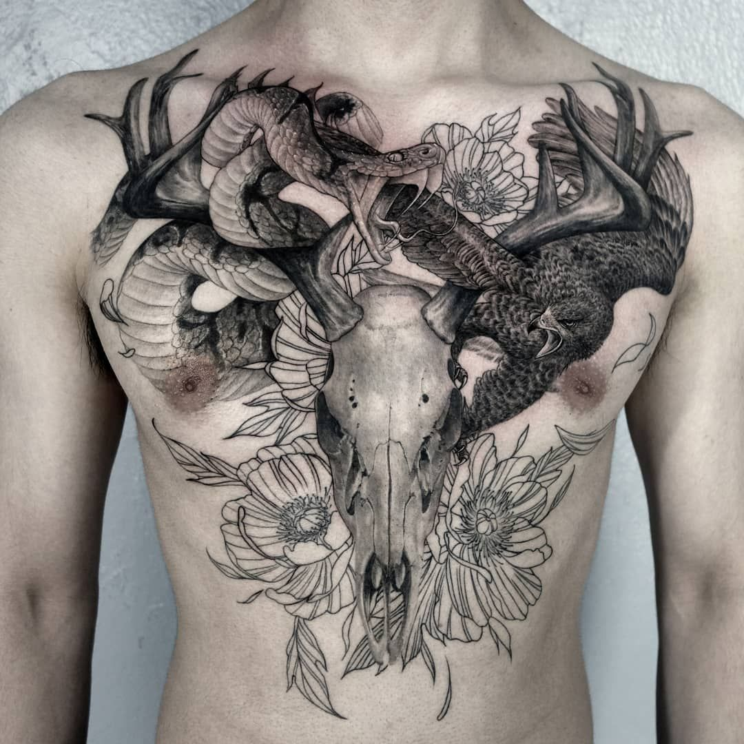 Top 30 Skull And Snake Tattoo Design Ideas September