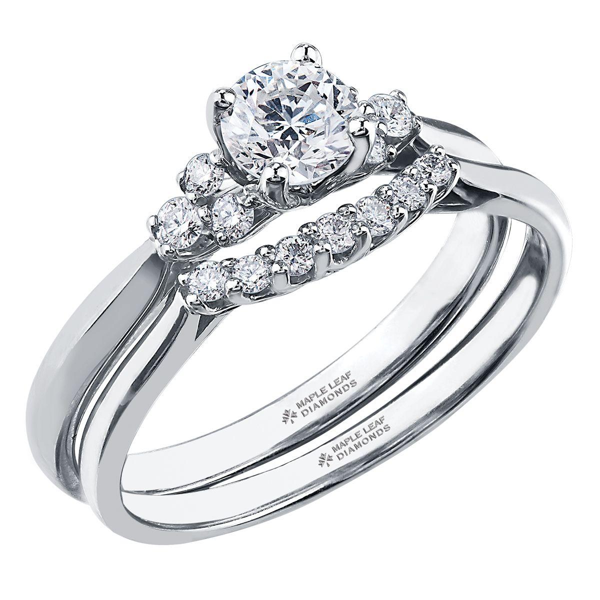 Diamond Accent Engagement and Diamond Ring. 7 Stone