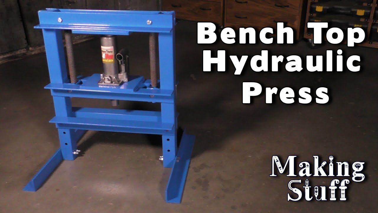Diy bench top hydraulic press youtube diy bench diy