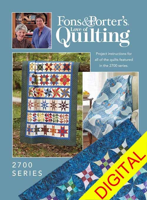 All Of The Quilt Patterns From The 2700 Series Of Fons Porters